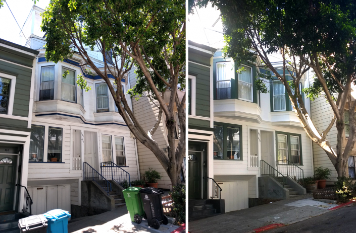 Dolores Park (Before & After)